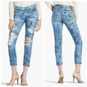 Lucky Brand Sienna Embroidered Jeans Boyfriend